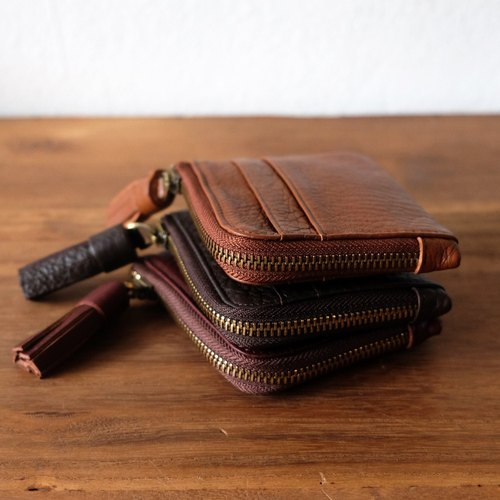 Mini Leather Card Wallet / Coin Purse