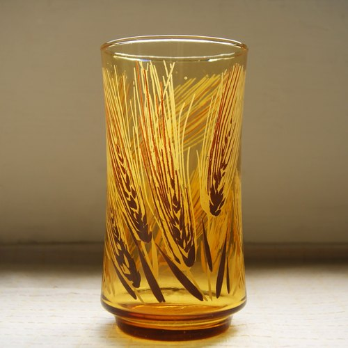 Early import printing cup - harvest Harvest Time (tableware / the old-fashioned / old material / old material / glass)