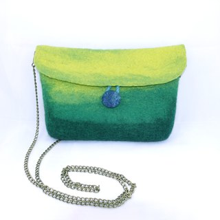 Handmade Wool Felted Shoulder Bag /Mountain