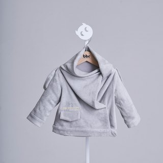 Draped collar Coat - 100% organic cotton
