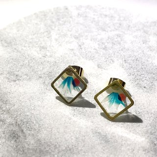Mini Mount Fuji Framed Earrings