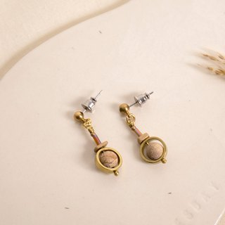Natural Picture Stone Earrings