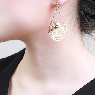 Tara Triangular Gold Earrings