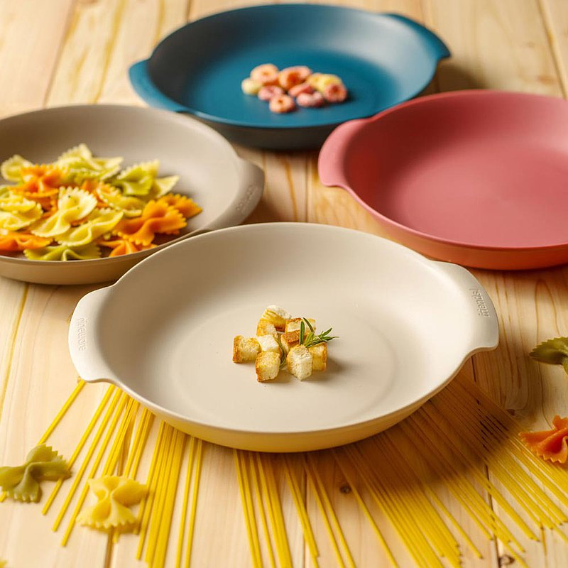 Korean nineware friends party deep plate two-piece set / 2 colors in total