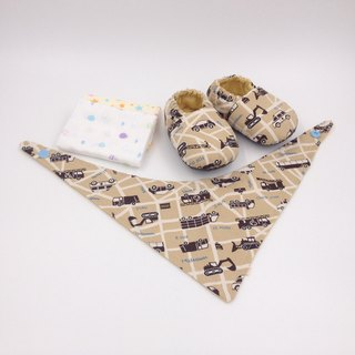 Car Water Mama - Miyue Baby Gift Box (toddler shoes / baby shoes / baby shoes + 2 handkerchief + scarf)