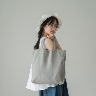 Casual Linen Tote Bag (Grey)