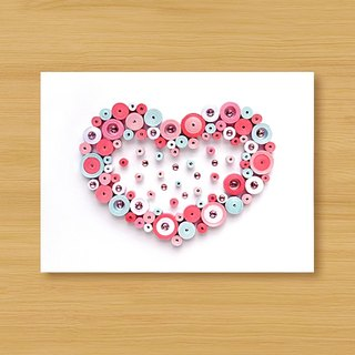 Handmade Roll Paper Card _ Sweet Love Bubbling - Powder... Valentine Card, Mother Card