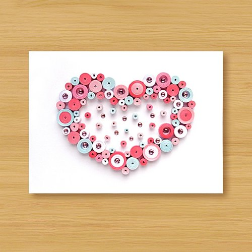 Hand roll card: Sweet love bubble _ powder (Valentine's card, mother card, wedding greeting card, birthday card)