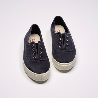 Spanish national canvas shoes CIENTA adult size washed old dark blue fragrant shoes 10777 77