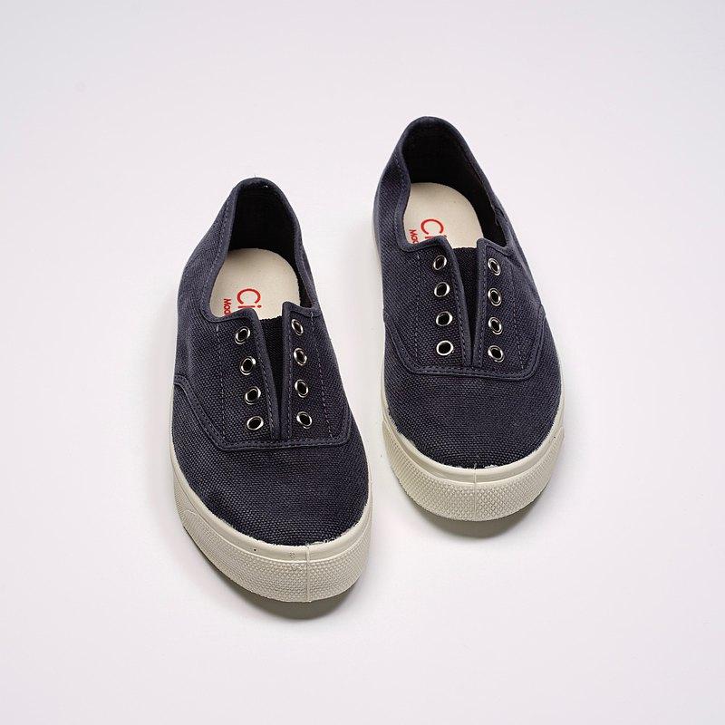西班牙國民帆布鞋 CIENTA 10777 77 暗藍色 洗舊布料 大人