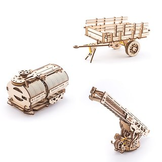 /Ugears/Ukrainian wooden model truck transformation accessories Additions for Truck UGM11
