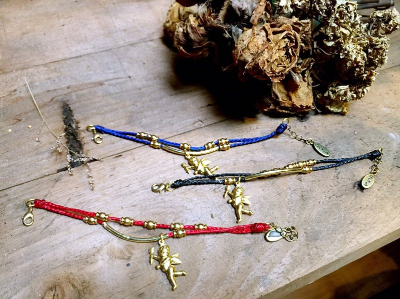 [As] hand UNA- excellent Na Cupid - Cupid wax line silk brass bracelets customized