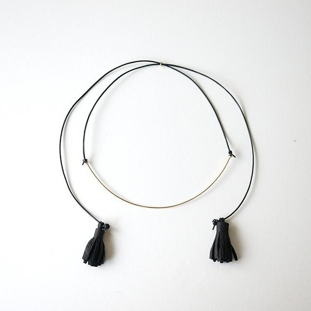 Choker necklace BLACK 14kgf チョーカー ネックレス