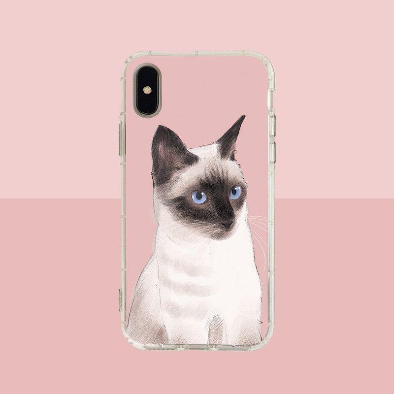 Big face Siamese cat embossed air shell - iPhone / Samsung, HTC.OPPO.ASUS pet phone case
