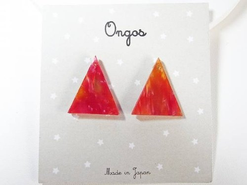 Aceti triangle mini red earrings
