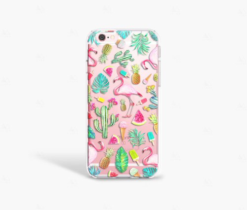 Flamingo iPhone 7 Case Clear iPhone 8 Case iPhone 7 Plus Clear Case Gift for Her