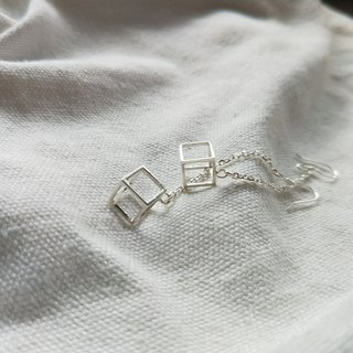 Empty dangle earrings