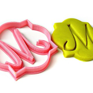 Custom Single Letter Monogram Cookie Cutter, Personalized with Your Initial