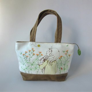 Leisure series--girls and cat handbags, shoulder bags