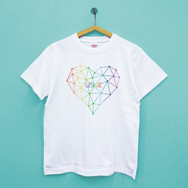Rainbow Heart United Athle Cotton Soft Neutral Tee
