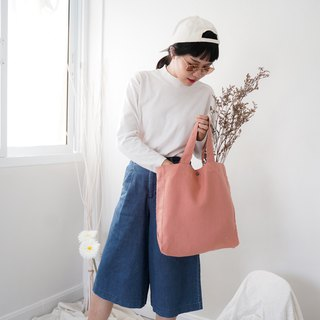Casual Linen Tote Bag (Milk Tea)