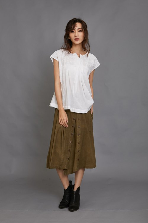 Mountain trail buckle skirt _ green _ fair trade