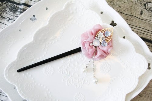 Classical beauty pink wave hairpin