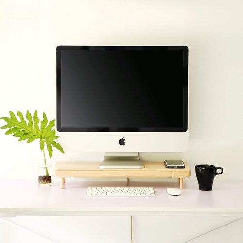Natural wood drawer storage computer screen rack / racks ─ 【VUCA-Design】 office small things │ can add customization