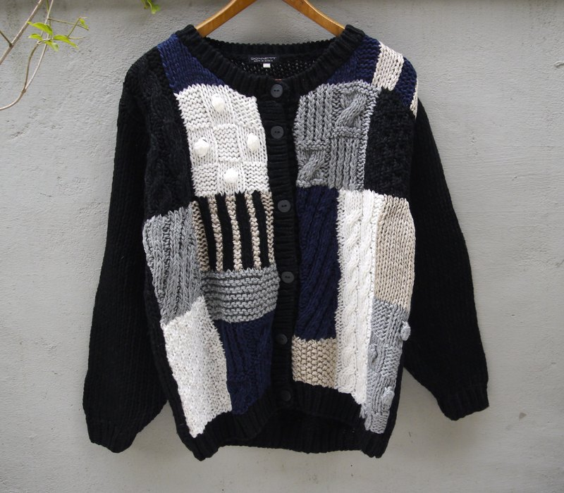 FOAK Tsu light shamisen vintage three-dimensional Sphere knit sweater coat