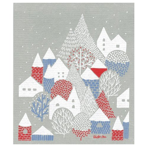 Winter village Chuang absorbent cloth L e.spongewipe_ point with the line model produced by _