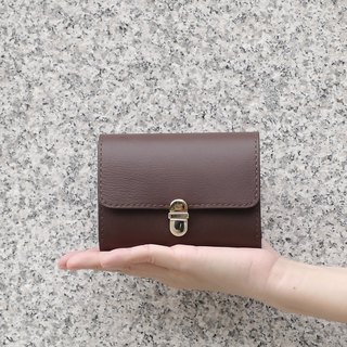 Tea brown color simple buckle organ clip