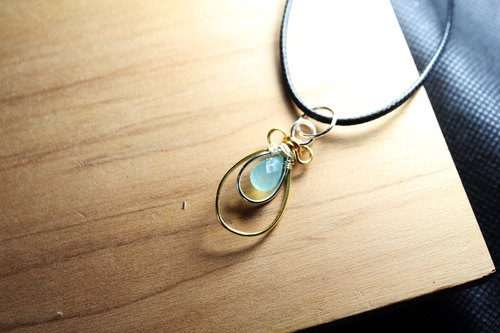 Blue Chalcedony Blue Moon Dew Necklace