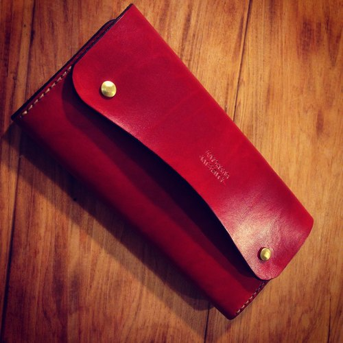 Golden Forest handmade leather original rose simple storage bag leather leather long folder wallet gift Pinkoi
