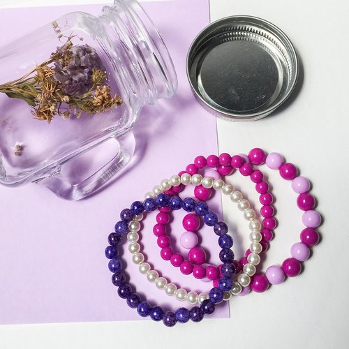 Purple Department • spring beaded bracelet