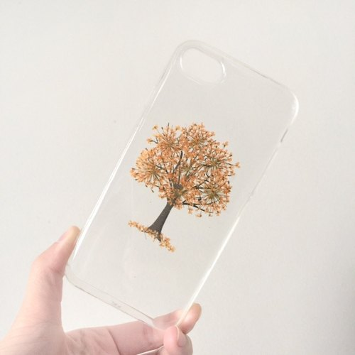 Pressed flower phone case - Spring Tree for iphone 5/5s/SE/6/6s/6 plus/6s plus/7/7plus/Samsung S4/S5/S6/S6Edge/S7/S7Edge/Note3/Note4/Note5