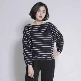 SU: MI said Horizon Horizon Striped Top _7AF004_ 黑