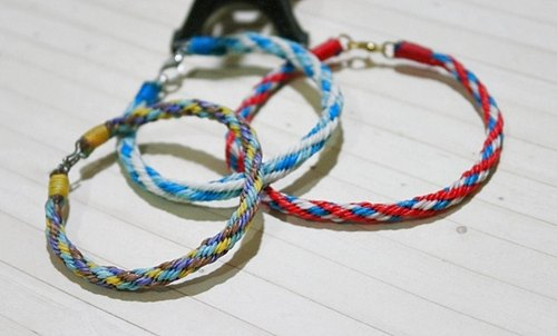Thai silk wax line <Twist roll> - Anklet series - // Can be selected in color //