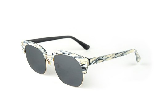 BEING Fashion sunglasses - white (white sincere) / try it at home, welcome to make an appointment