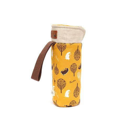 Insulation anti-collision kettle bag - jungle hide and seek - mustard yellow