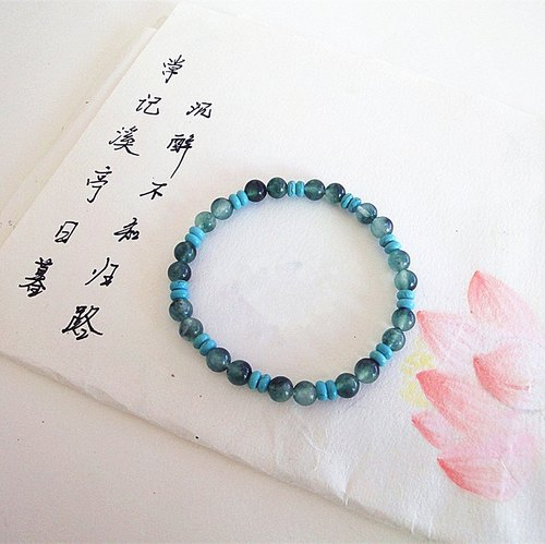 Romantic wait - Natural blue chalcedony bracelet