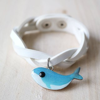 Whale Wooden Charm