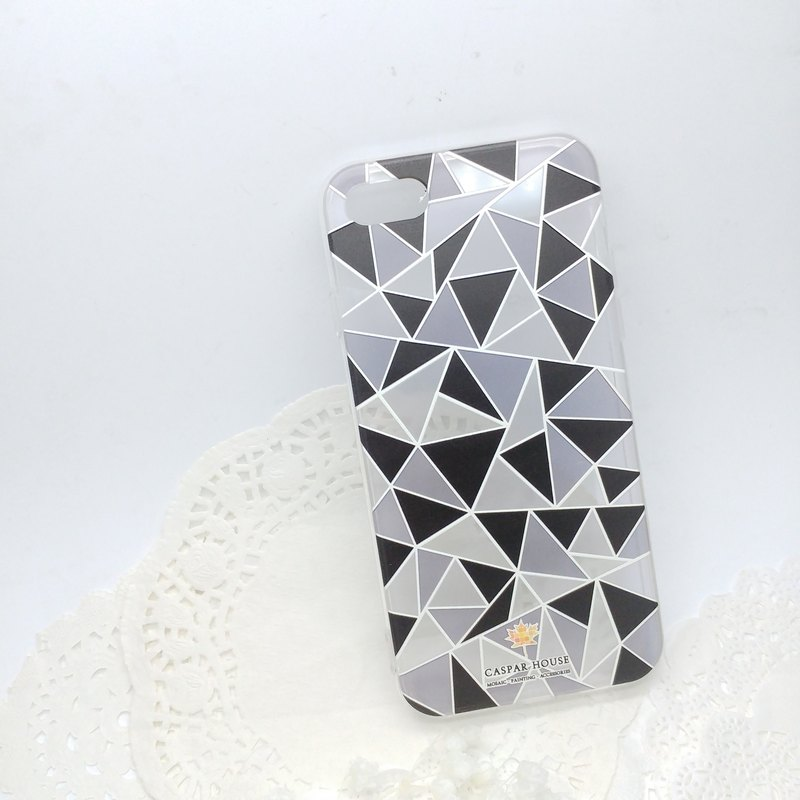 Mosaic phone case (black and white)