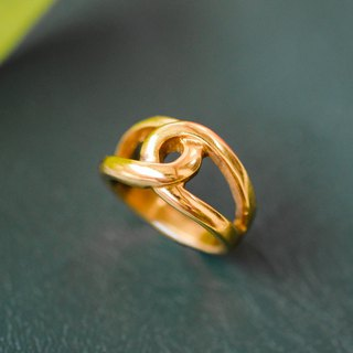 Minimalist infinity symbol pure brass ring pure copper jewelry