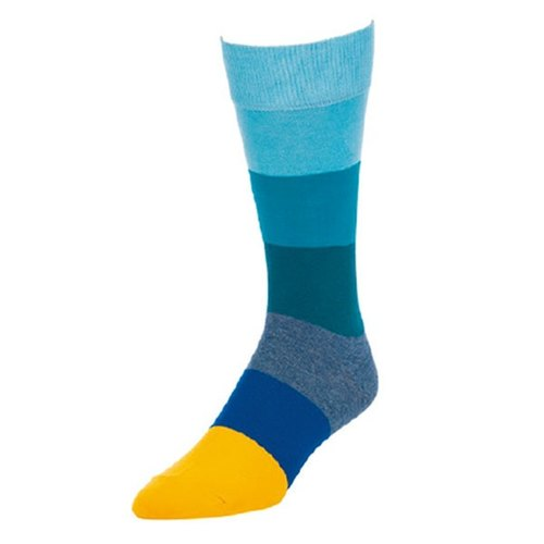 High noon blue and yellow California design male fashion cotton stockings show thousands of free shipping personality