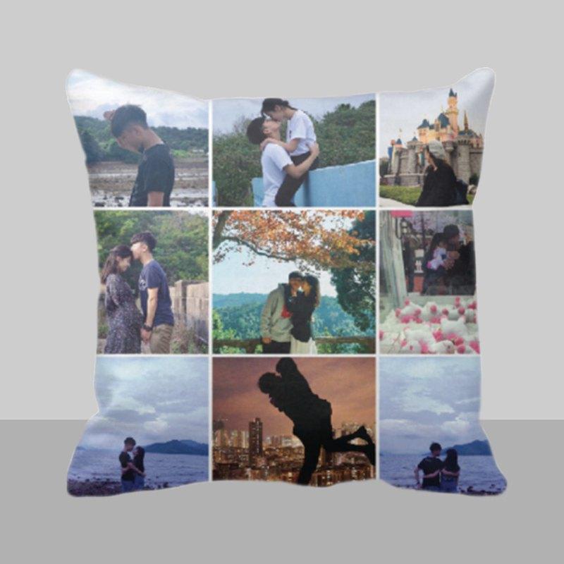 情人節禮物-9格相片拼貼抱枕-個人化相片客製化訂製咕?男生禮物