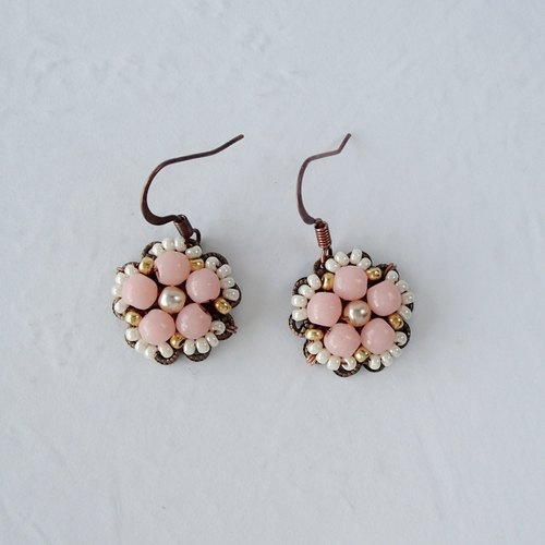 Amelie Pink Dangle Earrings - Jewelry by mdmButiik