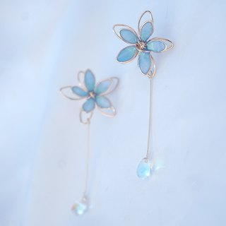 Breeze | hand-made winding hand-painted flowers and ears can be changed ear clips unique gift gifts