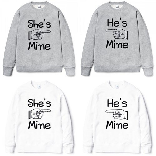 He's (She's) Mine University T bristles neutral version 2 color he (she) is my Valentine's Day Tanabata gift lover art design text wedding