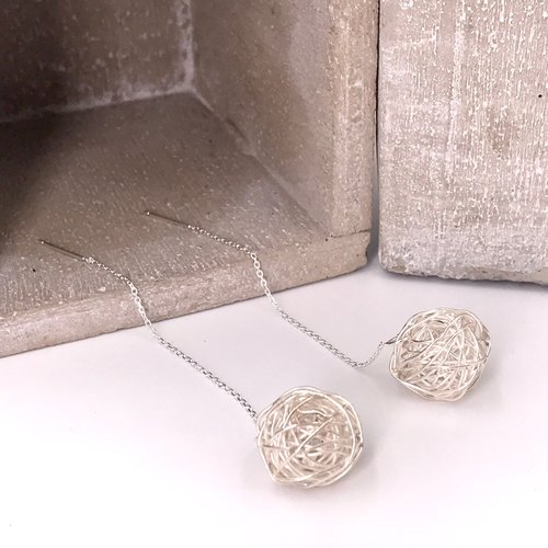E11023 Starry Night Over the Rhone Silver 925 Earrings