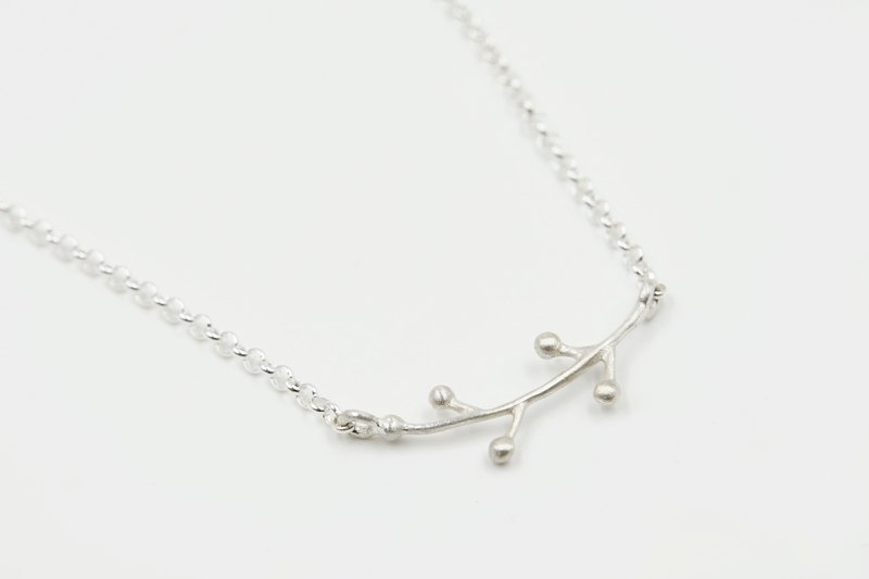 I-Shan13 little grass necklace short